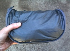 A silnylon toiletry kit