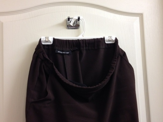 skirt hanger in use