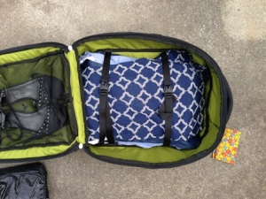 Bundle wrapped clothing in a carry on