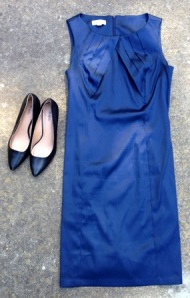 My navy shift for the wedding.