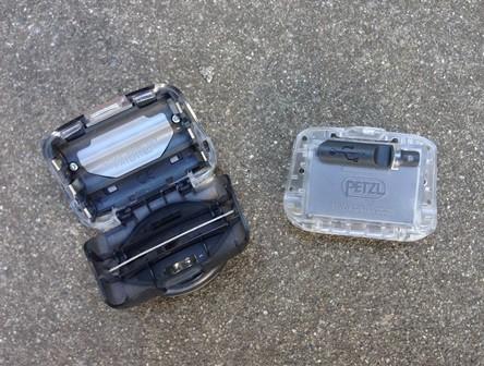 Petzl Tikka with optional USB powered battery pack.
