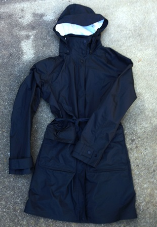 packable waterproof rain trench for women's travel