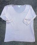 3/4 sleeve scoop neck silk long underwear shirt for travel
