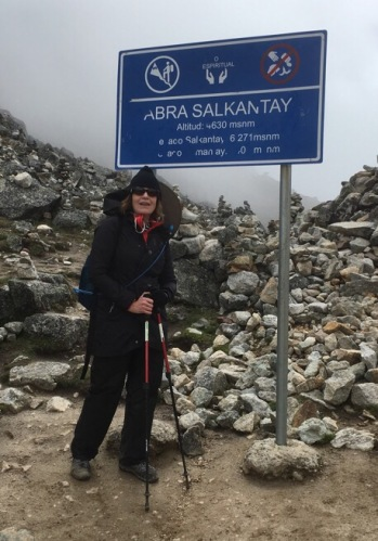 Cindy at Salkantay Pass