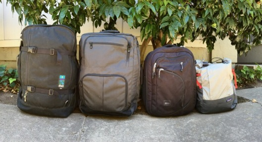 Size progression of carry on bags - largest to smallest