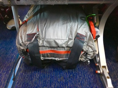 Patagonia 22 L tote under the seat