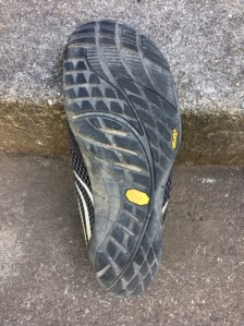 Sole of Merrell Pace Glove shoe