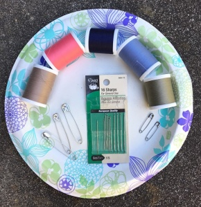 materials for DIY travel sewing kit
