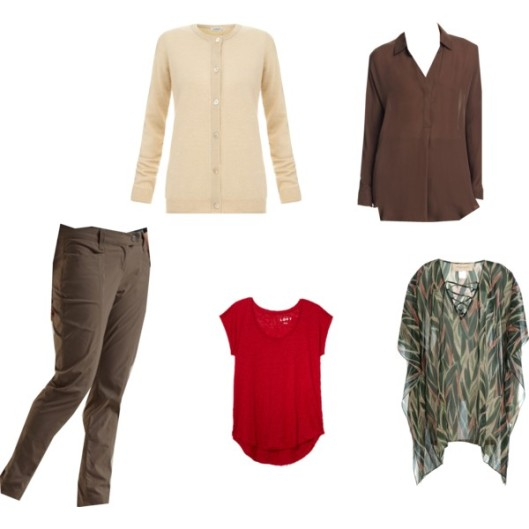 Capsule wardrobe variety pieces