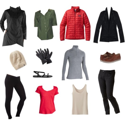 Outdoors capsule wardrobe core